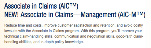 AIC Associate in Claims